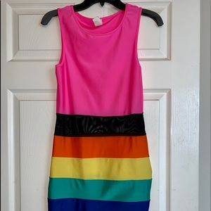 Sweetheart multicolored mini dress